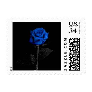 Law Enforcement Blue Rose Postage
