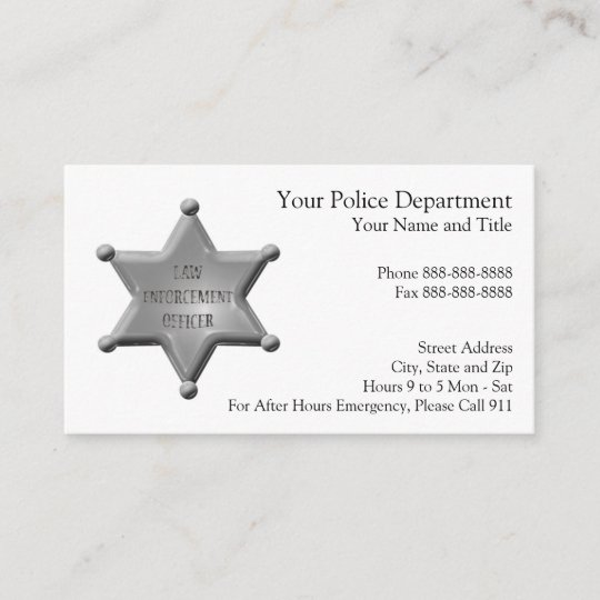 Law enforcement business card zazzle law enforcement business card colourmoves