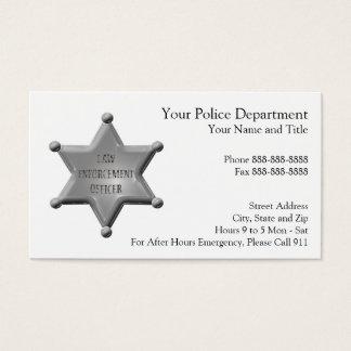 Law Enforcement Business Card
