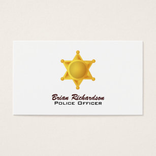 Police officer badge business cards templates zazzle law enforcement business cards colourmoves