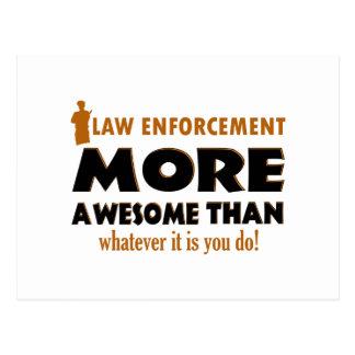 Law Enforcement designs Postcard