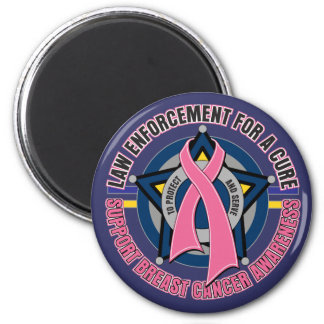 Law Enforcement For A Cure Breast Cancer 2 Inch Round Magnet