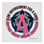 Law Enforcement For A Cure Breast Cancer Poster