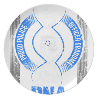 Law Enforcement Its My DNA Proud Police Officer Dinner Plate