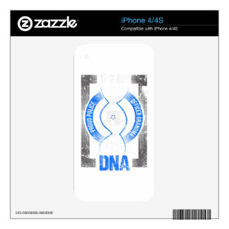 Law Enforcement Its My DNA Proud Police Officer iPhone 4S Skin