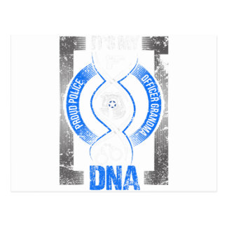 Law Enforcement Its My DNA Proud Police Officer Postcard