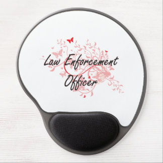 Law Enforcement Officer Artistic Job Design with B Gel Mouse Pad