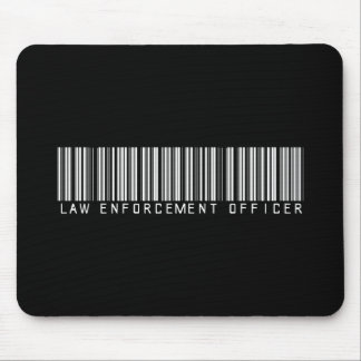 Law Enforcement Officer Bar Code Mouse Pad