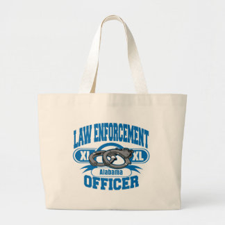 Law Enforcement Officer Handcuffs Alabama Jumbo Tote Bag