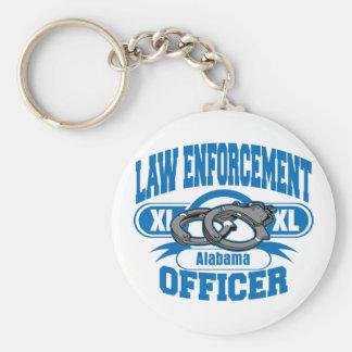 Law Enforcement Officer Handcuffs Alabama Basic Round Button Keychain