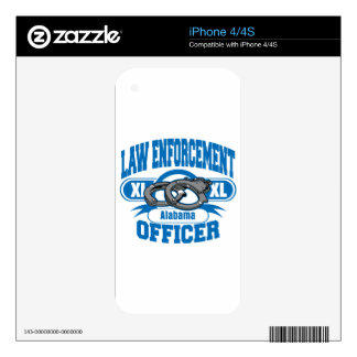 Law Enforcement Officer Handcuffs Alabama Decals For iPhone 4