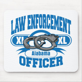 Law Enforcement Officer Handcuffs Alabama Mouse Pad