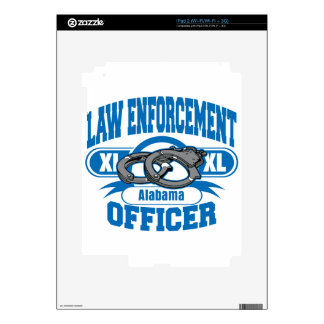 Law Enforcement Officer Handcuffs Alabama Decals For The iPad 2