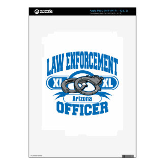Law Enforcement Officer Handcuffs Arizona iPad 3 Decals
