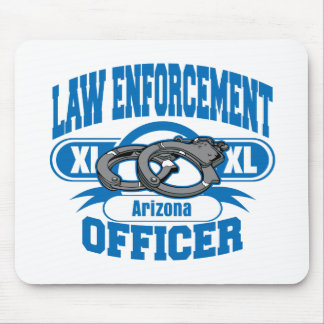 Law Enforcement Officer Handcuffs Arizona Mouse Pad
