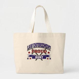 Law Enforcement Proud Aunt Large Tote Bag
