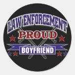 Law Enforcement Proud Boyfriend Round Sticker