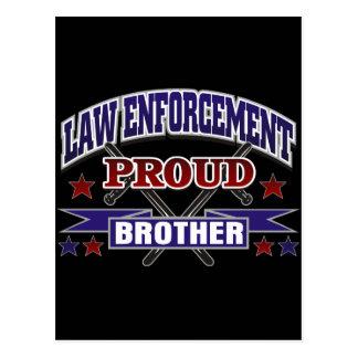 Law Enforcement Proud Brother Postcard