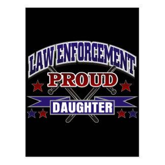 Law Enforcement Proud Daughter Postcard