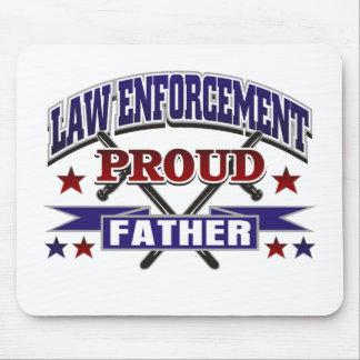 Law Enforcement Proud Father Mouse Pad