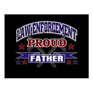 Law Enforcement Proud Father Postcard