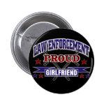 Law Enforcement Proud Girlfriend 2 Inch Round Button