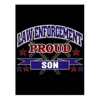 Law Enforcement Proud Son Postcard