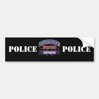 Law Enforcement Proud Supporter Bumper Sticker