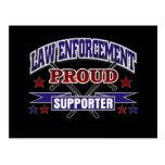 Law Enforcement Proud Supporter Post Card
