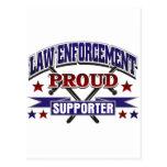 Law Enforcement Proud Supporter Postcards