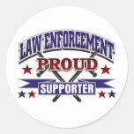 Law Enforcement Proud Supporter Classic Round Sticker