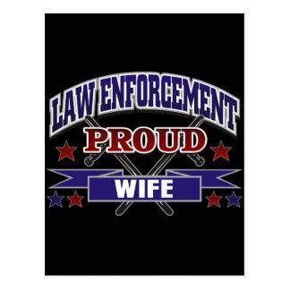 Law Enforcement Proud Wife Postcard