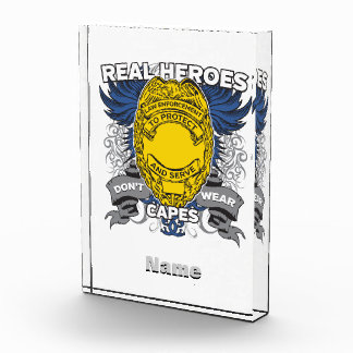 Law Enforcement Real Heroes Acrylic Award