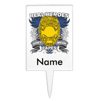 Law Enforcement Real Heroes Cake Topper