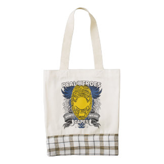 Law Enforcement Real Heroes Zazzle HEART Tote Bag