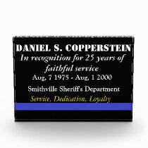 Law enforcement retirement plaque