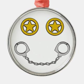 Law Enforcement Smile Metal Ornament