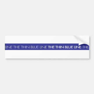 Law Enforcement...The Thin Blue Line Bumper Sticker