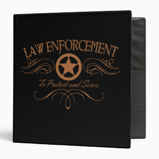 Law Enforcement Western Binder