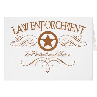 Law Enforcement Western Card