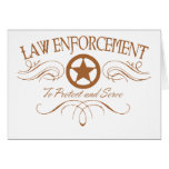 Law Enforcement Western Greeting Cards