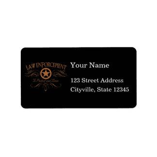 Law Enforcement Western Address Label