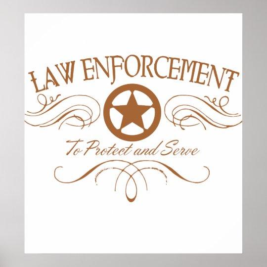Law Enforcement Western Poster