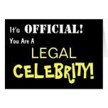 Law Exam Pass Celebration card