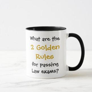 Law Exam Pass - Golden Rules Joke Quote Mug