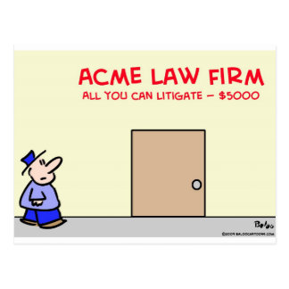 law firm all you can litigate $5000 postcard