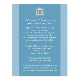 Law Firm Announcement Cards Postcards