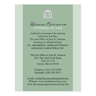 Law Firm Announcement Cards Postcard