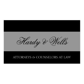 Law Firm Black/Aged Silver Double-Sided Standard Business Cards (Pack Of 100)