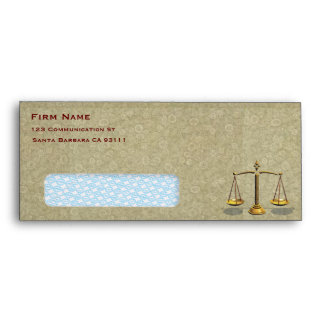 Law firm business envelope